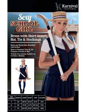 Preppy Schoolgirl Sexy Women's Costume