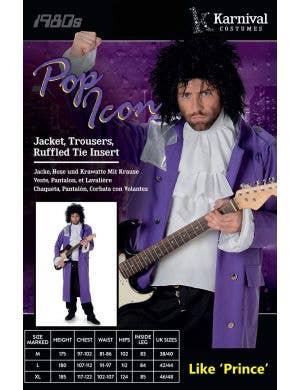 Pop Icon Men's Prince Fancy Dress Costume