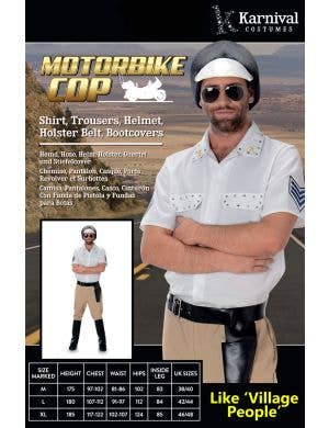 Motorbike Cop Men's Village People Costume