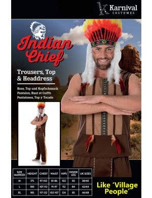Indian Chief Men's Village People Costume