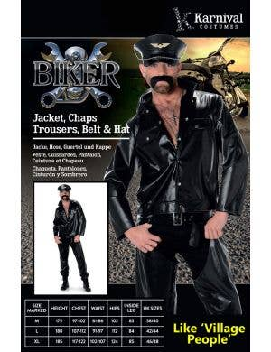 Bad Biker Men's Village People Costume