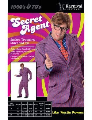 Groovy Secret Agent Men's Austin Powers Costume