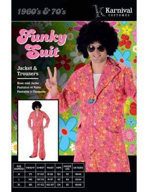 Funky 1970's Pink Hippie Suit Men's Costume