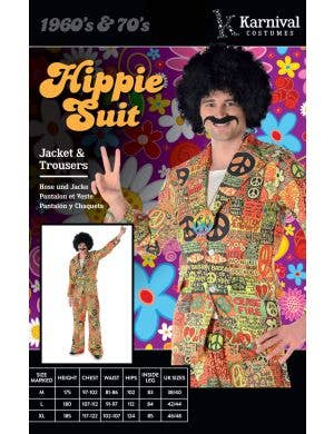 Peace Sign Hippie Suit Men's 70's Costume