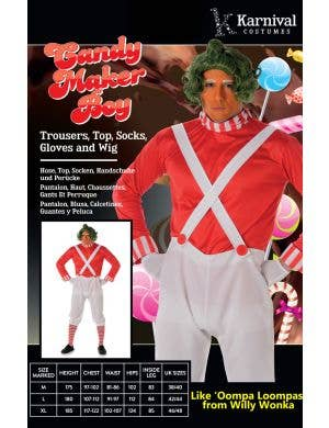 Candy Maker Men's Oompa Loompa Costume