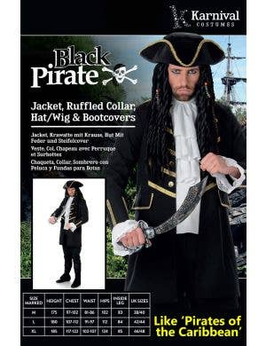 Buccaneer Pirate Men's Fancy Dress Costume