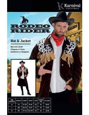 Rodeo Rider Men's Fancy Dress Costume