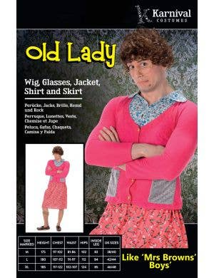 Old Lady Men's Novelty Mrs Brown's Boys Costume