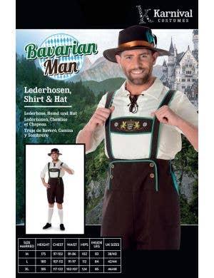Bavarian Lederhosen Men's Oktoberfest Costume