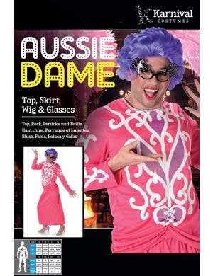Aussie Dame Edna Everage Men's Costume