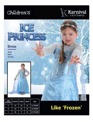 Ice Princess Girls Fancy Dress Costume
