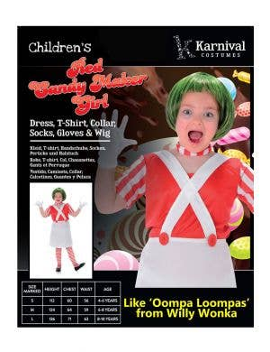 Candy Maker Girls Book Week Costume