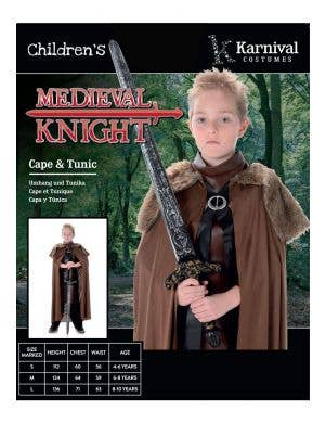 Medieval Knight Boys Book Week Costume