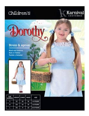 Darling Dorothy Girls Book Week Costume