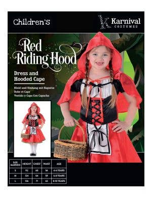 Red Riding Hood Girls Book Week Costume