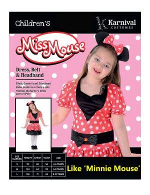 Miss Mouse Girl's Book Week Costume