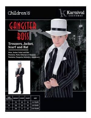 Gangster Boss Boys 1920's Costume