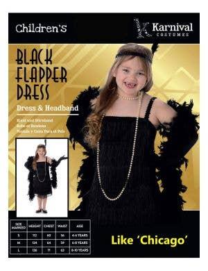 1920's Black Flapper Girls Gatsby Costume