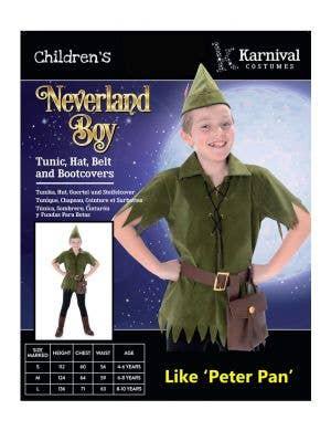 Neverland Boy Kids Book Week Costume