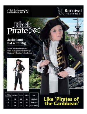 Buccaneer Pirate Boys Fancy Dress Costume