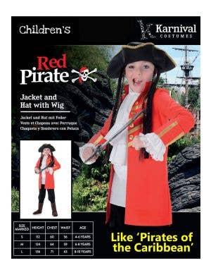Pirate Captain Kid's Buccaneer Costume