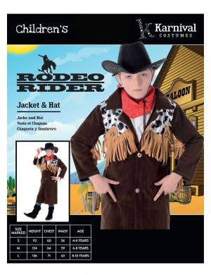 Wild West Gunslinging Cowboy Kids Costume