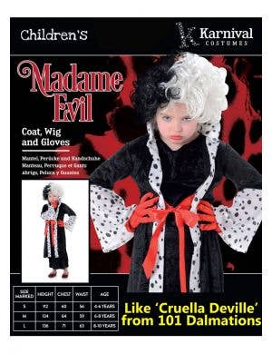 Madame Evil Girls Book Week Costume