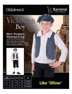 Victorian Boy's Street Urchin Costume