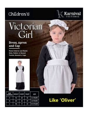 Victorian Maid Girls Fancy Dress Costume