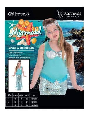 Magical Little Mermaid Girls Fairytale Costume