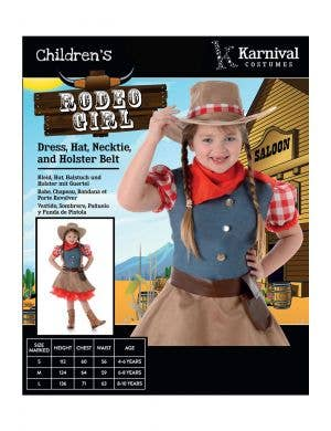Rodeo Cowgirl Kids Fancy Dress Costume