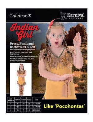 Pocahontas Girl's Native American Indian Costume