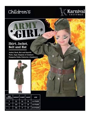 Vintage Army Girl Book Week Costume