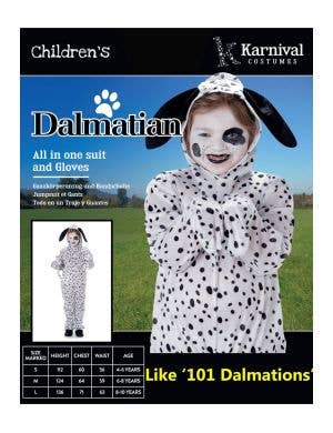 Dotty Dalmatian Kids Animal Onesie Costume