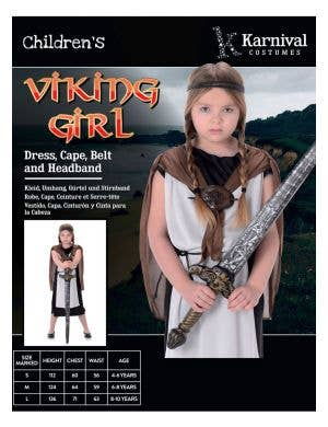 Shield Maiden Girl's Viking Costume