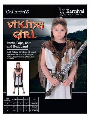Shield Maiden Girl's Viking Costume