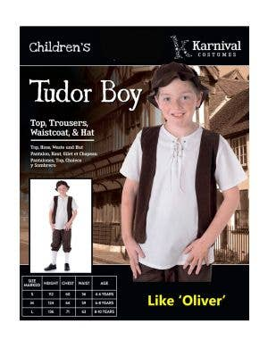 Tudor Boy Kids Book Week Costume