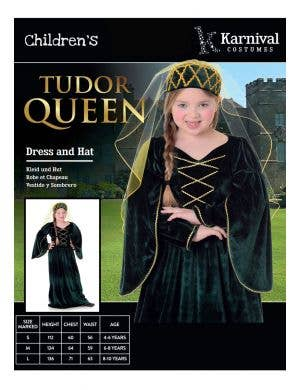 Tudor Queen Girls Book Week Costume