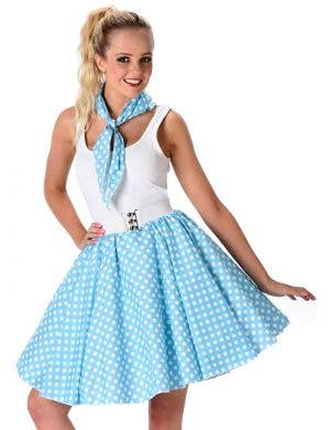 ... 1950u0027s Blue Polka Dot Womenu0027s Costume  sc 1 st  Heaven Costumes : 1950s costume ideas  - Germanpascual.Com
