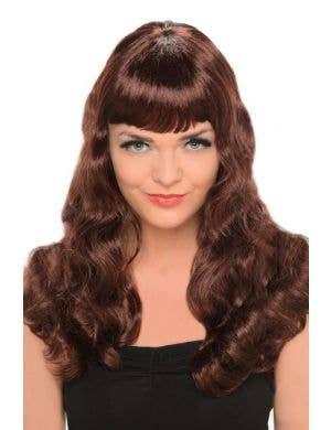 Glamour Wavy Brunette Women's Costume Wig