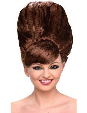 Giant Beehive Women's Brown 1960's Costume Wig