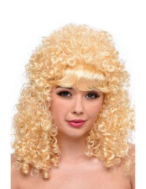 Dolly Parton Women's Long Curly Blonde Costume Wig