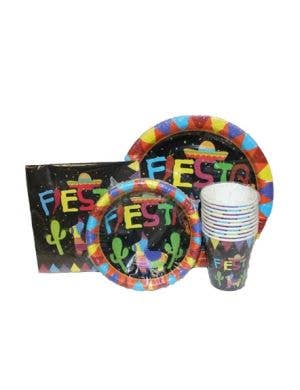 Mexican Themed Black Party Cups - 10 Pack