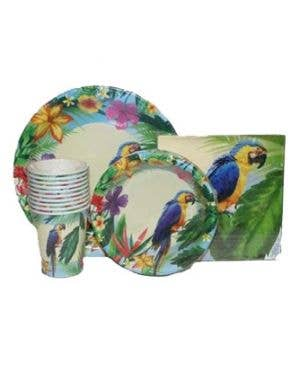 Hawaiian Parrot Party Bowls - 10 Pack