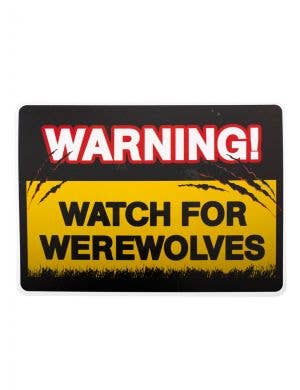 Vampires and Werewolves Halloween Warning Sign Decoration