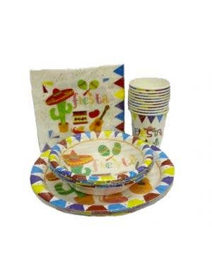 Mexican Themed White Party Cups - 10 Pack