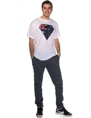 Aussie Flag Superman Logo Australia Day T-Shirt