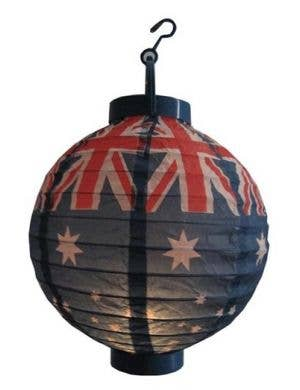 Australian Flag Paper Lantern with Battery Operated Light