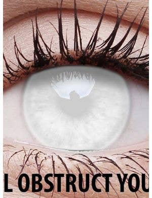 Blind White 3 Month Wear Costume Contact Lenses