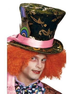 Deluxe Mad Hatter Green Velvet Costume Hat